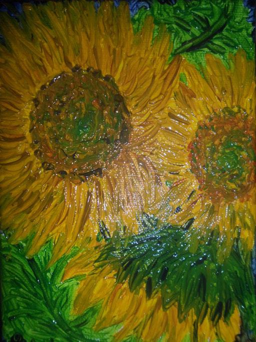 LADRI DI SOLE - 2011 olio su tela 13 x 18