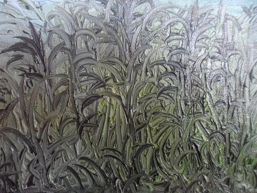 TRA LE CANNE - 2012 olio su tela 13 x 18