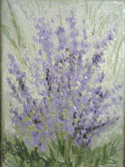 LA LAVANDA DI SAN GIOVANNI - 2011 olio su tela 13 x 18