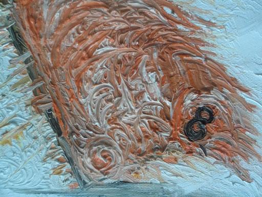 VELA AL VENTO - 2011 olio su tela 13 x 18
