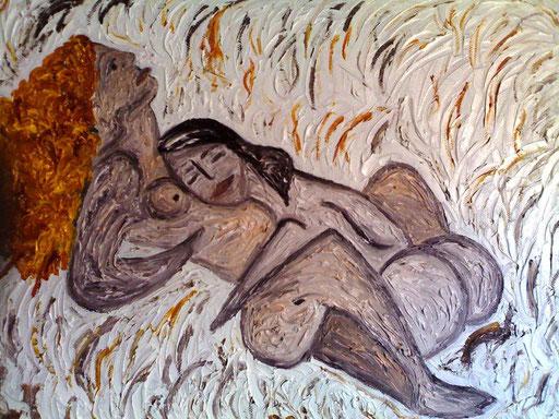 CONNUBIO - 2010 olio su tela 25 x 35