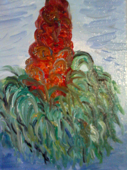 FIORE ROSSO - 2011 olio su tela 13 x 18