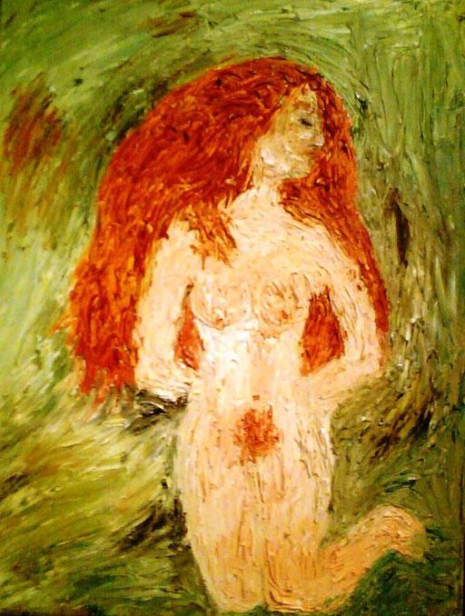 IN GINOCCHIO - 2010 olio su tela 25 x 35