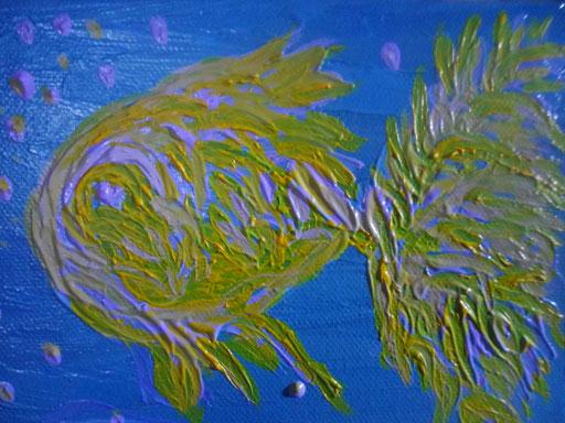 UN PICCOLO PESCE - 2011  olio su tela 13 x 18