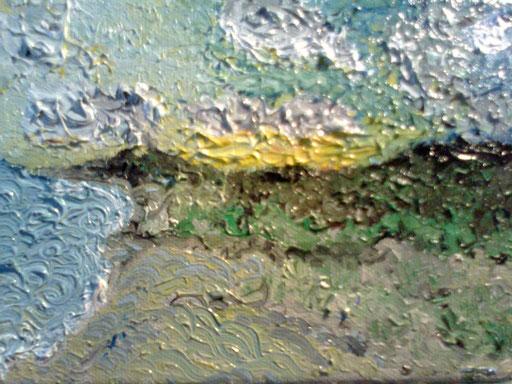 IL VERDEORO DELL'AURORA - 2011 olio su tela 13 x 18