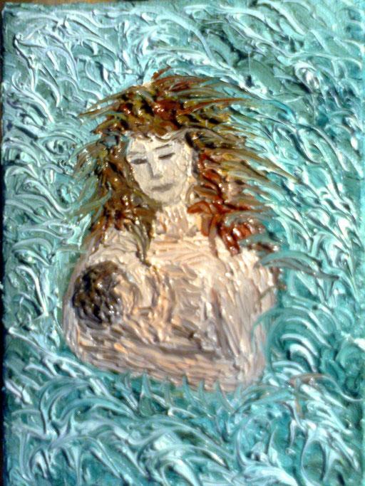MADRE, PER SEMPRE  2012 olio su tela 13 x 18