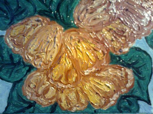 CESPUGLIO FIORITO - olio su tela 13 x 18