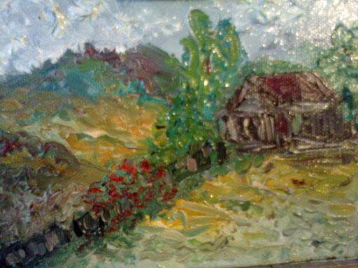 LA PICCOLA CASA - 2011 olio su tela 13 x 18
