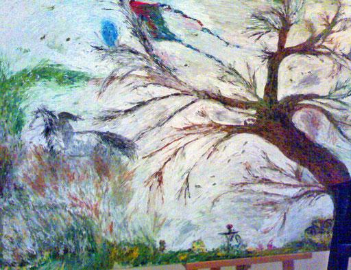L'ALBERO DI MIA VITA - 2009 olio su tela 100 x 120