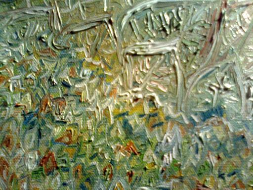 FOGLIE AL VENTO - 2011 olio su tela 13 x 18