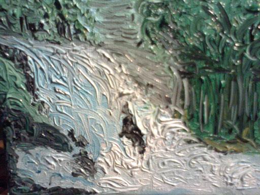 LA CASCATA - 2011 olio su tela 13 x 18