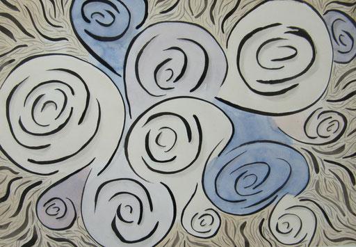 9028 27 cm x 19 cm Tusche und Gouache auf Papier