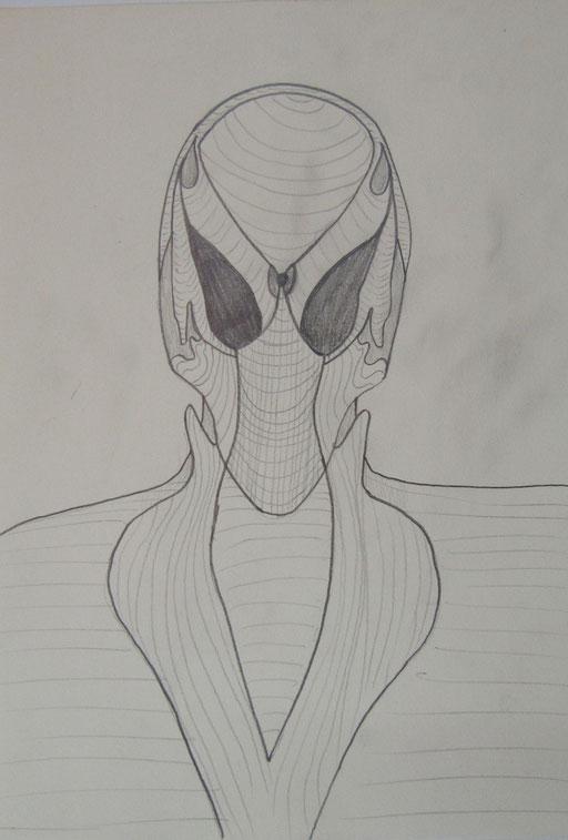 8601 21 cm x 29 cm Bleistift auf Papier