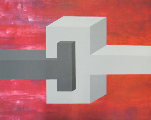 9070  95 cm x 75 cm Acryl auf Leinwand