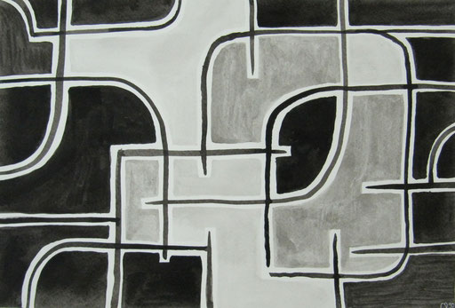 9023  27 cm x 19 cm  Tusche auf Papier