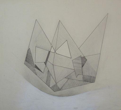 8405 32 cm x 29 cm Bleistift und Farbstift auf Papier