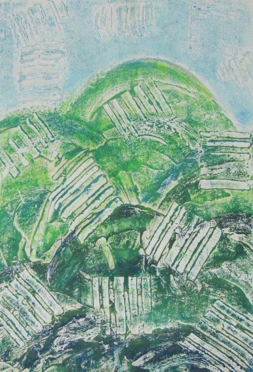 9068  19 cm x 27 cm Acryl und Ölkreide auf Papier