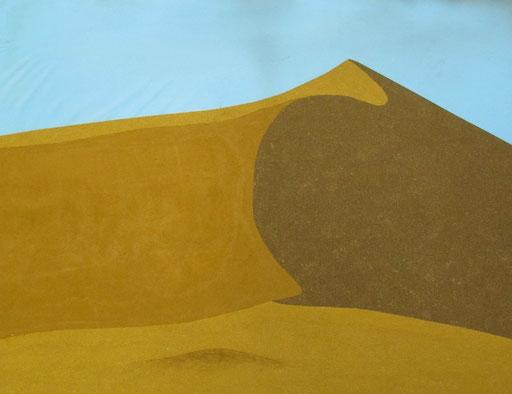 9075  90 cm x 70 cm Acryl, Sandstein auf Leinwand