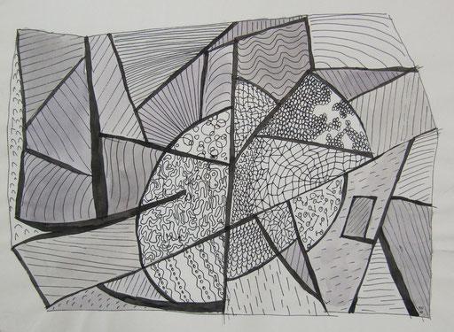 8002 27 cm x 20 cm Tusche auf Papier