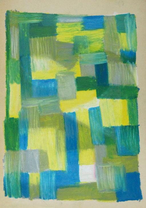 9064  29 cm x 42 cm Ölkreide auf Papier