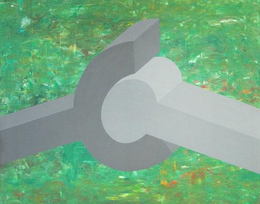9071 95 cm x 75 cm Acryl auf Leinwand