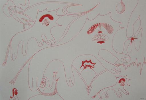 8003  27 cm x 20 cm Kugelschreiber auf Papier