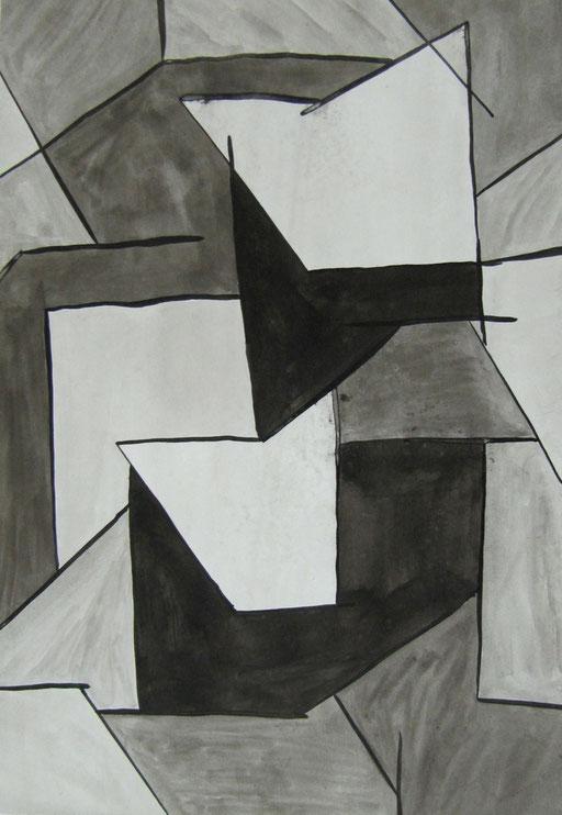 9025  19 cm x 27 cm Tusche auf Papier