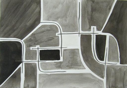 9022 27 cm x 19 cm Tusche auf Papier