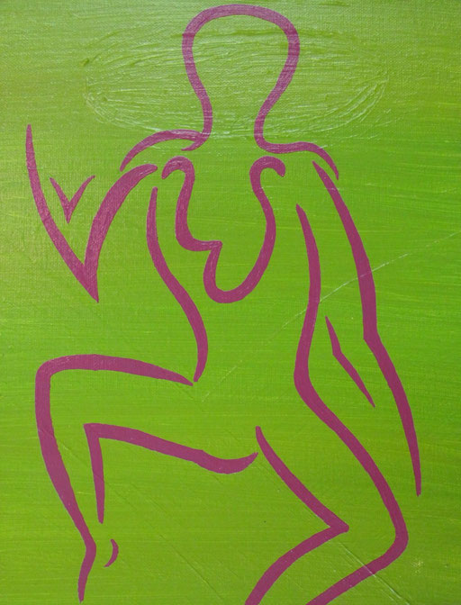 8801 27 cm x 35 cm Acryl auf Leinwand