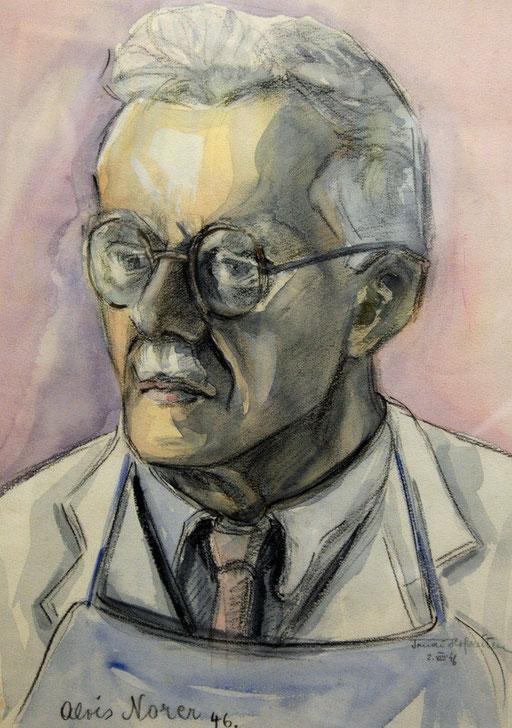 Portrait Alois Norer, Aquarell, 1946