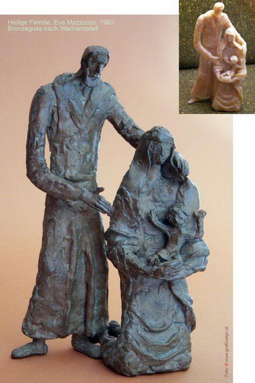 Heilige Familie, Bronze nach Wachsmodel