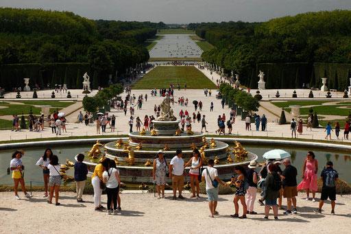 Parkanlage Schloss Versailles, kostenlos
