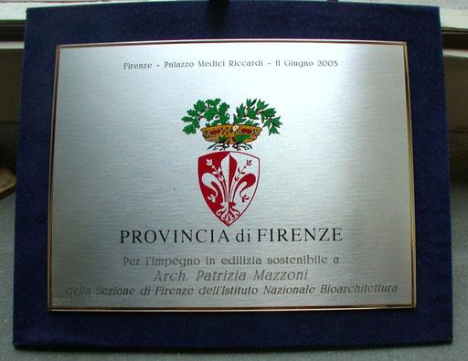 2003 Provincia di Firenze Premio Bioarchitettura - clicca sull'immagine