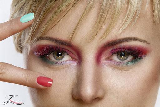 Portrait von Frau mit grünen Augen, Close up, Beauty