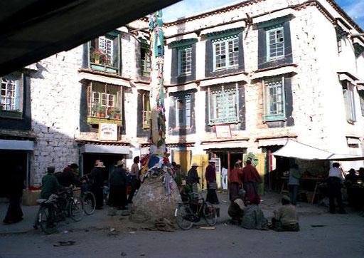 mitten im Zentrum von Lhasa