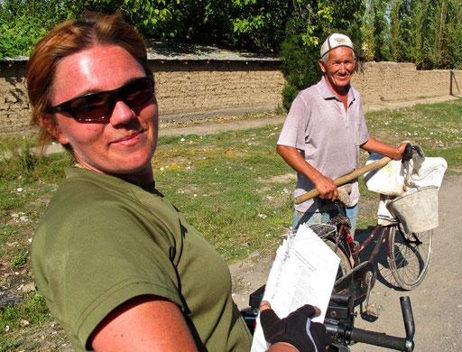 Katrin radelte weiter in Richtung Usbekistan, nach Samarkand und Buchara - wie ich im letzten Jahr