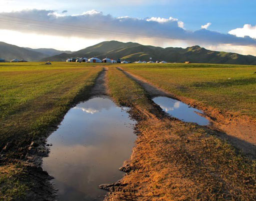 das Orkhon-Valley war zur Ruhe gekommen