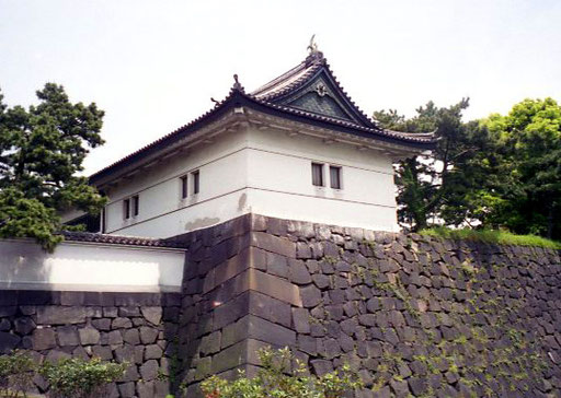an der Burgmauer des Kaiserpalastes