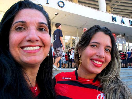 der Anteil der weiblichen Fans war sehr hoch, besonders bei den Flamengos