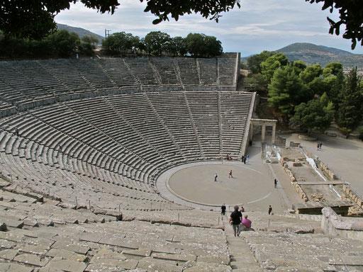 das Amphitheater in Epedaurus