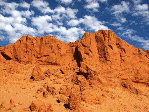 Gesteinsformationen von der Natur gestaltet