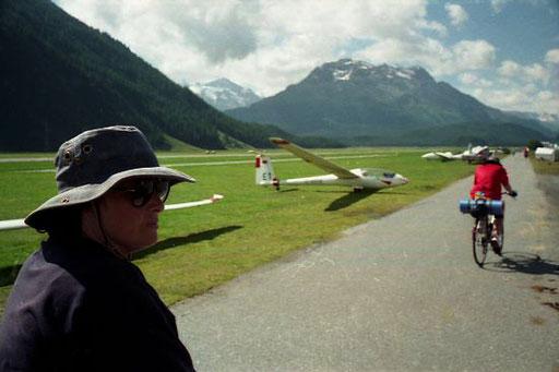 die 4.000 m hohen Bergriesen von St. Moritz waren jetzt zu sehen