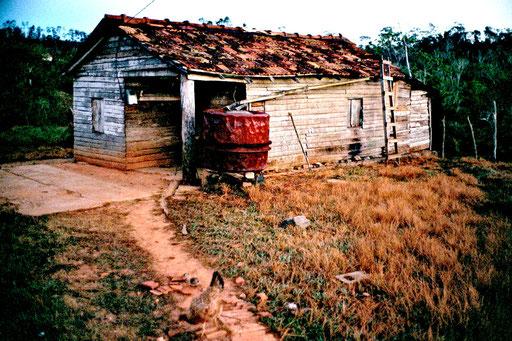 in dieser einfachen Hütte habe ich mich wohlgefühlt und gut geschlafen