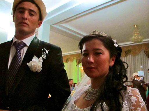 das junge Brautpaar