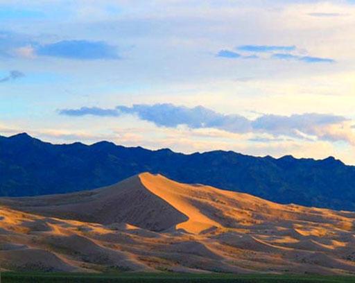 die majestästisch anmutenden Dünenbilder der Gobi-Wüste  machten mich sprachlos