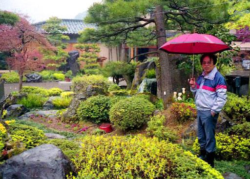 die Vielfalt dieses Gartens ergab eine berauschende Einheit - Mr. Kosmoto erklärte mir in englisch jedes Detail
