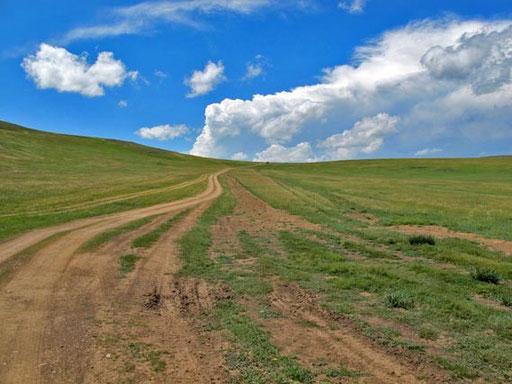 oben - am Ende des Passes - war noch der Geländewagen von Iris, Gilles, Gökhan und Daavka zu sehen