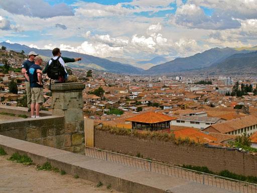 Blick über Cusco, dem Zentrum des legendären Inka-Reiches........