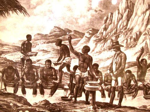 Afrikanische Sklaven schürften nach Gold