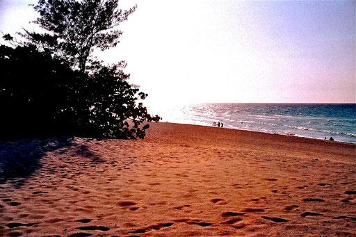 der Strand von Valadero im Abendlicht